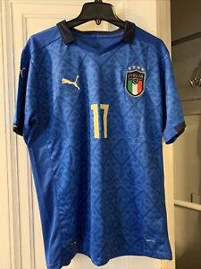 Italy National Team 2020/2021 Puma Home Jersey Size Large Immobile