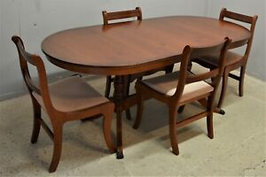 Regency style dining table and 4 chairs Mahogany veneer delivery available