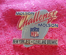 New York Jets Vs Cleveland Browns Molson Challenge Pin NFL
