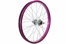 """18""""BIKE FRONT WHEEL IN PURPLE FOR RALEIGH KRUSH 18""""+ ANY 18""""BIKES NEW"""