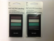 2 X Revlon Colorstay 12 Hour Quad Eye Shadow SILVER FOX  #380 NEW.