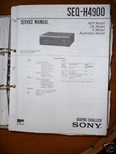 Manuale di Servizio per Sony SEQ-H4900 Equalizzatore, Originale