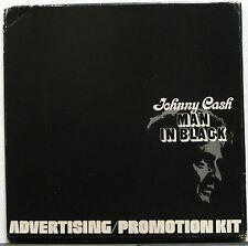 JOHNNY CASH Man In Black 1975 Original BOOK Advertising Marketing Promotion Kit
