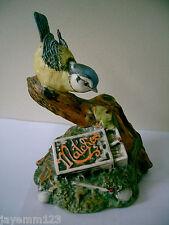 ROYAL DOULTON BLUE TIT WITH MATCHES GARDEN BIRDS COLLECTION MODEL No DA 13