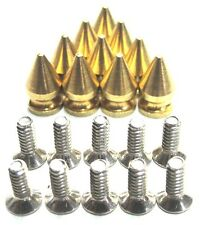 """500 solid polished brass 1/2"""" (12.7mm) Spikes High Quality Made In USA Screwback"""