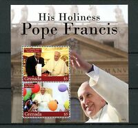 Grenada 2014 MNH His Holiness Pope Francis 2v S/S I Popes Stamps
