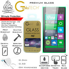 Twin Lumia 630/635 Genuine Gorilla Tech Brand Screen Protector Tempered Glass