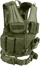 Cross Draw Tactical Vest Military Od Green Molle Cross Draw Vest 4591