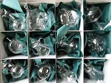 12 mundgeblasene durchsichtige exclusive Glasformen, 10cm, klar Mix,SET, nur 1x