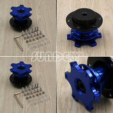 Steering Wheel Quick Release Hub Adapter Removable Snap Off Boss Kit Blue AU