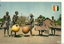 Cote D'Ivoire Native people with Instruments Postcard Boudiali