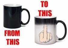 middle finger mug heat colour change flip off offensive joke funny secret santa