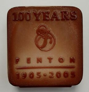Fenton Chocolate Glass Logo 100th Anniversary Limited Edition 2005 11/300 Signed