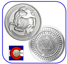 2014 Silver Shield Ag Bull 1 oz. Silver Round/Coin in airtite
