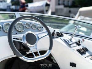MÖWE Marine Boat Steering Wheel Amalfi Real Leather Sunseeker Teleflex Ultraflex