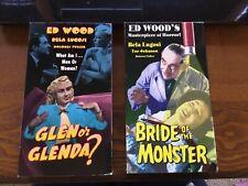 Bride Of The Monster and Glen or Glenda?  VHS Horror Bela Lugosi Tor Johnson