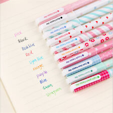 10 PCS Office School Accessories 0.38mm Pen Nice Gel Pens Colorful Cute Gift