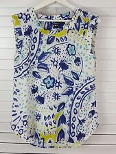 SPORTSCRAFT sz 8  ( Fits size 10 too ) womens print blouse top [#2204]