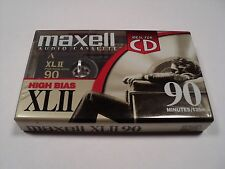 MAXELL XL II 90 Minutes High Bias Cassette New Old Stock Sealed