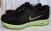Nike Men's Black Volt Dual Fusion Run Running Trainers Size 9.5 Used Condition