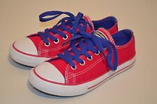 CONVERSE ALL STAR SHOES SNEAKER BERRY PINK PURPLE LACES LOW JUNIORS SIZE 13