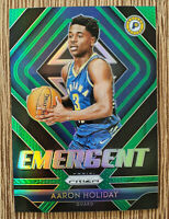 2018-19 Panini Prizm Emergent Prizms Green #23 Aaron Holiday
