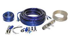 LANZAR CAR AMPKIT0 0 GAUGE AMPLIFIER KIT CONTAQ 5000W BLUE POWER & AUDIO CABLE