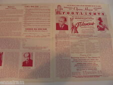 1952 Chicago Opera House Footlights ad mailer Fledermaus