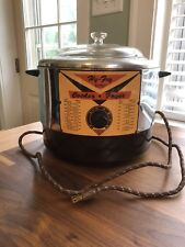 Vintage HY FRY Automatic Electric Cooker Fryer #M-200 Made in USA Works!