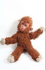 schönes altes DDR Plüschtier mit Gummigesicht Spielzeug Affe Monkey Schlafaugen