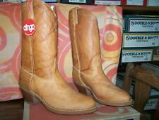 Men's Vintage New Dingo Western style slip on tan Boot  9, 9.5,10D,