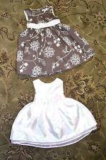 (2) Infant Girls Sleeveless Summer Dresses 18M