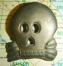 LARGE BADGE - French Foreign Legion - DEATHS HEAD, USSF SKULL, Vietnam War, 4680