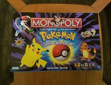 Pokemon Monopoly Game  Gotta Catch 'em All Collectors Edition 100% Complete
