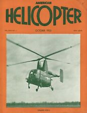 1953 October American Helicopter - Vintage Magazine - Cover: Kaman HOK-1