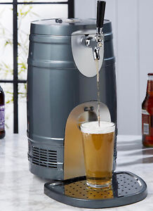 ELECTRIC DRAFT BEER KEG Dispenser - Drinks Cooler Lager - 5 Litres NEW!! ✅