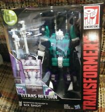 Transformers TITANS RETURN SIXSHOT LEADER CLASS FIGURE NEW