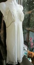VTG Bali Fischer Collection 38 Candlelight Satin Slip Embroidered Floral Lace