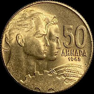 YUGOSLAVIA. 50 Dinara, 1963 - Cogwheel