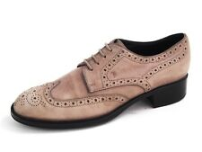 Tod's Brogues Gray Suede Womens Shoe Size EU 37 US 7 $520