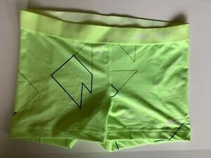 NEW! NIKE PRO [L] Womens 3.0'' Compression Shorts-Yellow/Printed 453650-340