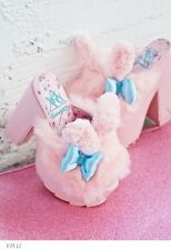 New Sanrio x YRU Pink Furry Platforms Slides 10M Fit 9 - 9.5 US Best