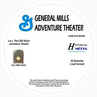 CBS GENERAL MILLS ADV THEATER - 52 Shows Old Time Radio In MP3 Format OTR 1 CD