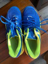 Gently Used, Blue/Yellow Babolat Squash Shoes