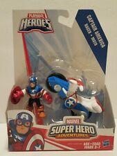"Hasbro Playskool Heroes Captain America 2.5"" Figure w/ Shield Racer NEW"