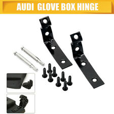 GLOVE BOX HINGE AUDI A4 S4 B6 B7 LID REPAIR KIT 2001 - 2008 SEAT BLACK GLOVEBOX