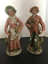 "Vintage Elder Farmer Couple Figurines Homco Home Interior #8884 10"" Tall"