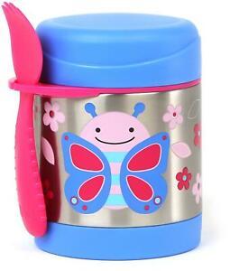 Skip Hop ZOO INSULATED FOOD JAR BUTTERFLY Toddler Kids Feeding Storage Flask BN