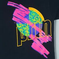 Vtg 80s Neon Prince Performance T-Shirt L Spell Out Double Sided Single Stitch