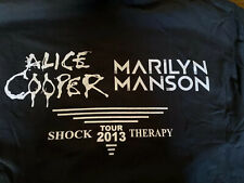 Marilyn Manson Alice Cooper Staff CONCERT TOUR CREW SHIRT UPSTAGING 🤘 L